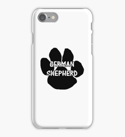 GS name paw iPhone Case/Skin