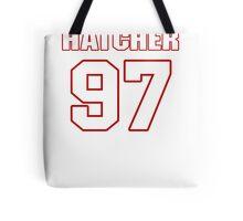 NFL Player Jason Hatcher ninetyseven 97 Tote Bag