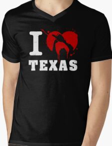 I Heart Texas (White) Mens V-Neck T-Shirt