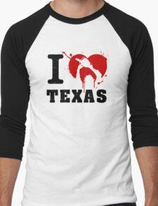 I Heart Texas Men's Baseball ¾ T-Shirt