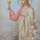 Christ image from 1908 for 60 years priesthood by Gilberte