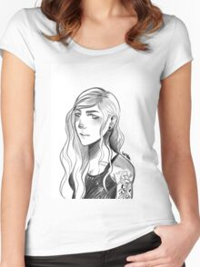 Original character Women's Fitted Scoop T-Shirt