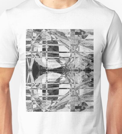 Geometric black and white Unisex T-Shirt