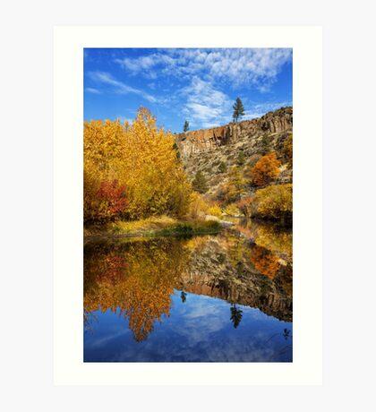 Autumn In The Susan River Canyon Art Print