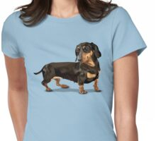The Happy Dachshund Womens Fitted T-Shirt