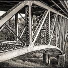 Cut River Bridge in B&W by Theodore Black