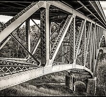 Cut River Bridge in B&W by Theodore Black