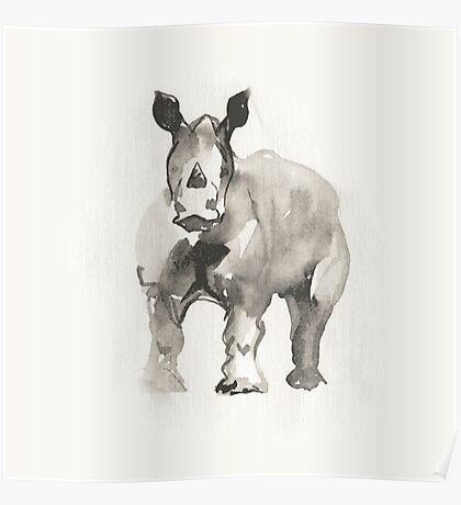 Rhinoceros.  Poster