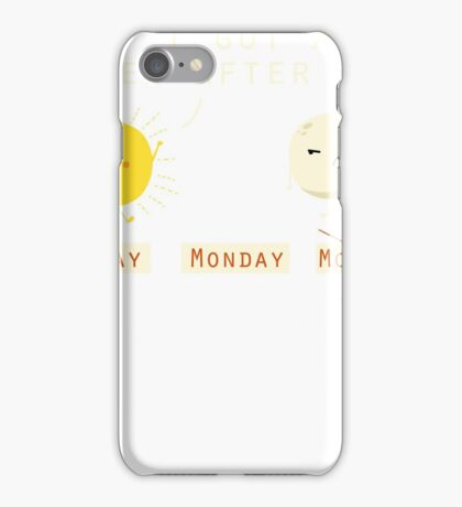 Funny Sarcastic Sunday Wins Over Moonday Monday Illustrated Pun Graphic Tee Shirt iPhone Case/Skin