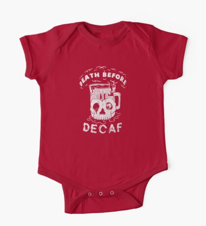 pyknic death before decaf One Piece - Short Sleeve
