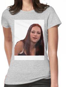 Cash Me Ousside Howbow Dah Meme Womens Fitted T-Shirt