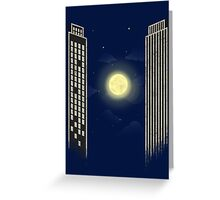 Ping Pong Moon Greeting Card