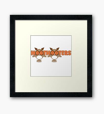Hoothooters Framed Print