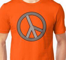 lambda peace gray Unisex T-Shirt