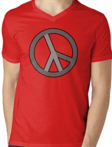 lambda peace gray Mens V-Neck T-Shirt