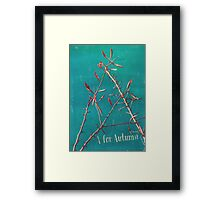 A for Autumn Framed Print