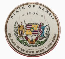 Vintage State Of Hawaii Badge One Piece - Short Sleeve