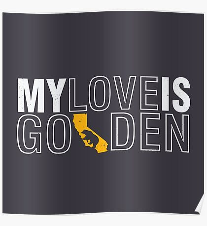 GOLDEN LOVE - CALI Poster