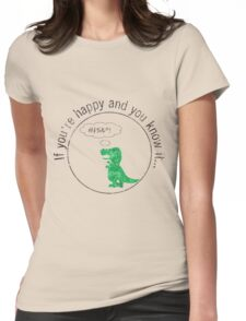 T-Rex Dinosaurs Can't Clap T Rex T Shirt Womens Fitted T-Shirt