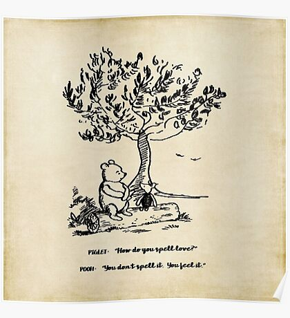 Winnie the Pooh - How do you spell love? Poster