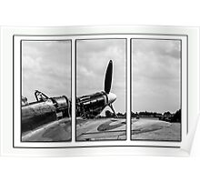 Hawker Hurricane Tryptych Poster