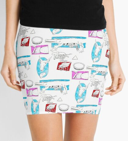 Square Intestines Mini Skirt