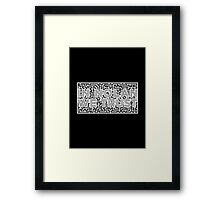 Inspired by Christopher Nolan - In Nolan We Trust Framed Print