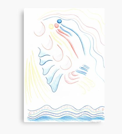 Abstract Moon Magical Girl Canvas Print