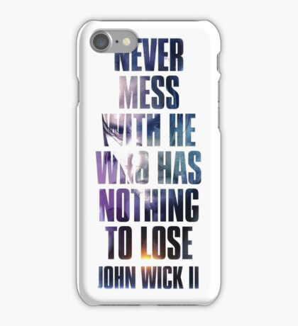 john wick chapter 2 iPhone Case/Skin