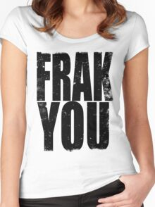 FRAK YOU (BLACK) Women's Fitted Scoop T-Shirt
