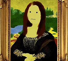 Mona Lisa in Golden Frame by SaralieW