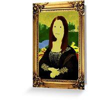 Mona Lisa in Golden Frame Greeting Card
