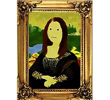 Mona Lisa in Golden Frame Photographic Print