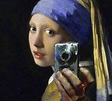 Johannes Vermeer Selfie by Lyra Hexica