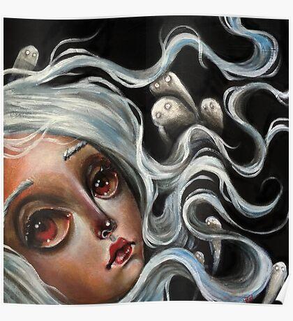 White Spirits :: Pop Surrealism Painting Poster