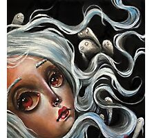 White Spirits :: Pop Surrealism Painting Photographic Print