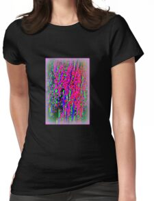 VERTICAL COLORS WITH SOFT PINK Womens Fitted T-Shirt