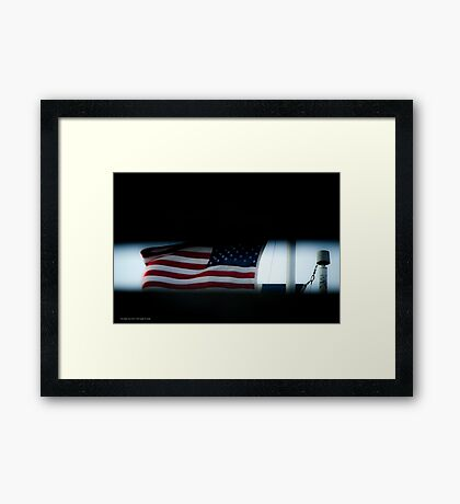 Flag Of The United States Of America | Fire Island, New York Framed Print