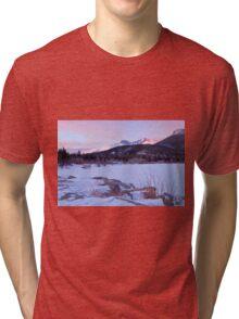 Longs Peak and Lily Lake - Rocky Mountain National Park Tri-blend T-Shirt
