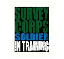 Survey Corps Soldier in Training Art Print