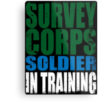 Survey Corps Soldier in Training Metal Print
