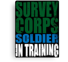 Survey Corps Soldier in Training Canvas Print
