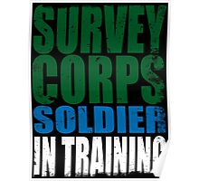 Survey Corps Soldier in Training Poster
