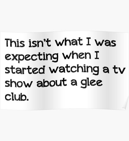 Glee Club Poster