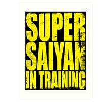 Super Saiyan in Training Art Print