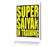 Super Saiyan in Training Greeting Card
