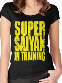 Super Saiyan in Training Women's Fitted Scoop T-Shirt