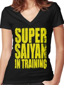 Super Saiyan in Training Women's Fitted V-Neck T-Shirt