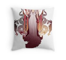Our Mother of Dragons Throw Pillow