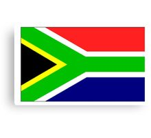South Africa Flag Canvas Print